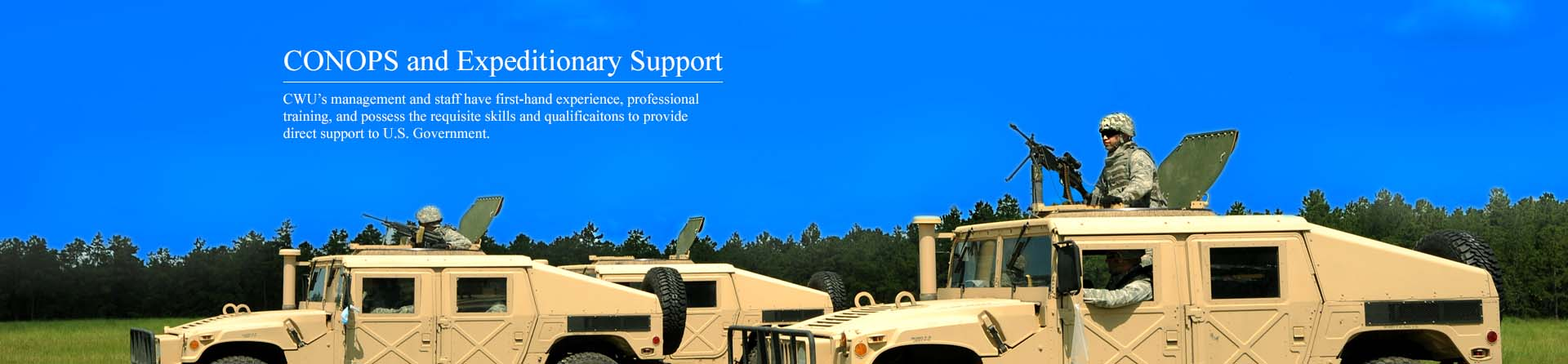 CONOPS and Expeditionary Support